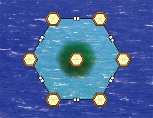 上空から見た浮島イメージ
